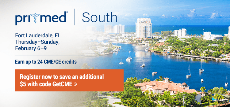 Pri-Med South | CME/CE Primary Care Conference in Fort Lauderdale, FL | Use code GetCME to save $5